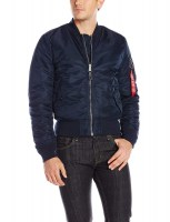 Alpha Industries Mens MA-1 Slim Fit Replica Blue