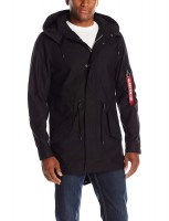 Alpha Industries Mens M-59 Fishtail Parka black