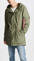 Alpha Industries Mens M-59 Fishtail Parka olive