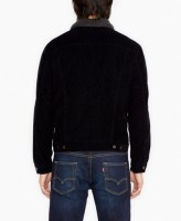 Relaxed Sherpa Trucker Jacket Black 2