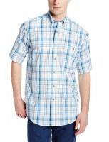 a3c84e97141 Рубашка Wrangler Men s Rugged Wear Blue Ridge Plaid Shirt