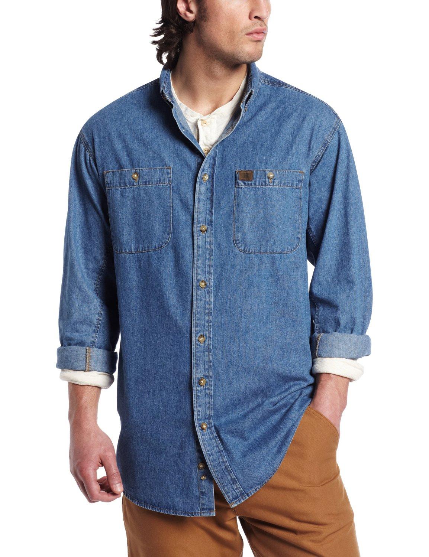ccd8508e4f7 Джинсовая рубашка Wrangler RIGGS WORKWEAR Men s Denim Work Shirt Antique  Navy